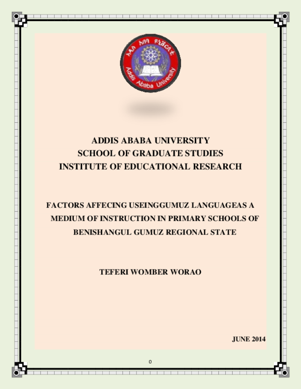 PDF) ADDIS ABABA UNIVERSITY SCHOOL OF GRADUATE STUDIES