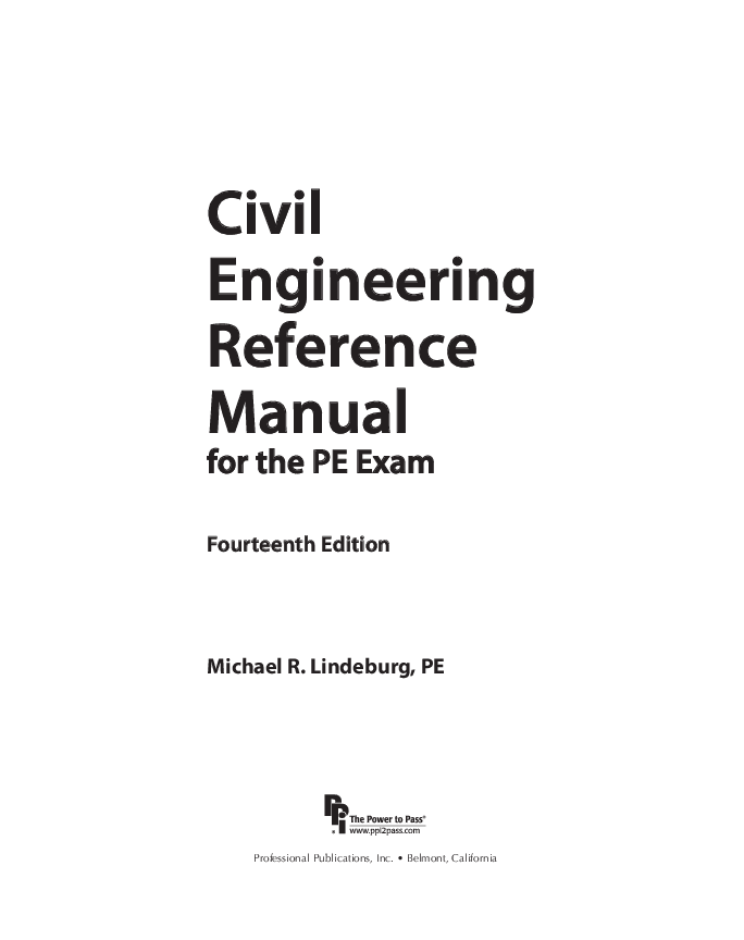 (PDF) Civil Engineering Engineering Reference Manual for