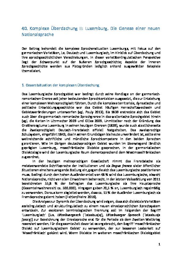 Pdf Komplexe überdachung Ii Luxemburg Die Genese Einer