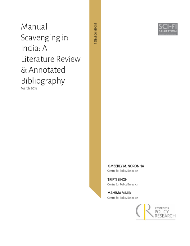 PDF) Manual Scavenging in India: A Literature Review
