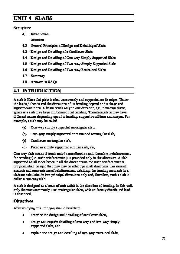 PDF) Cantilever Slab Design   ramjan shehzaad - Academia edu
