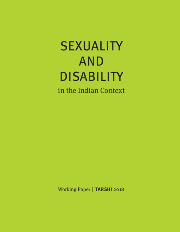 PDF) SEXUALITY AND DISABILITY | TARSHI Delhi - Academia edu