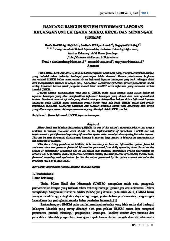 (PDF) RANCANG BANGUN SISTEM INFORMASI LAPORAN KEUANGAN ...