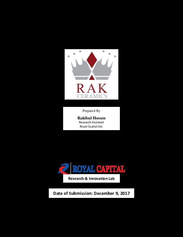 PDF) Financial Analysis of RAK Ceramics Ltd    Rakibul
