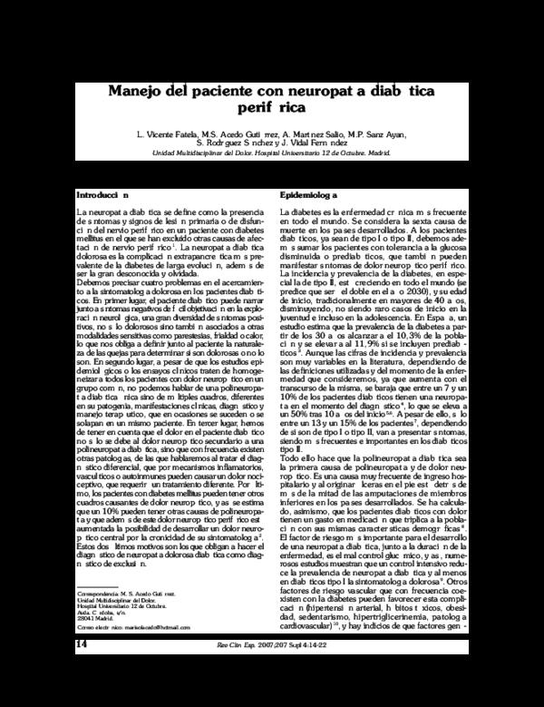 qst pruebas sensoriales cuantitativas para diabetes