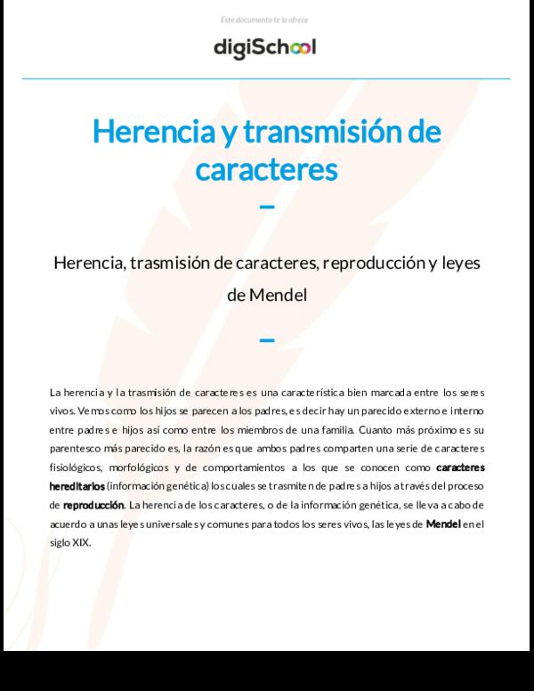 Pdf Herencia Y Transmisión De Caracteres Beatriz Isidro Chura Academia Edu