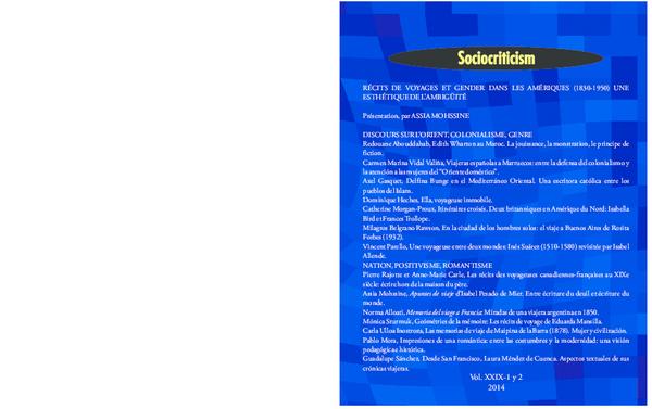 Pdf Chicharro Antonio Dir Sociocriticism Vol Xxix 1