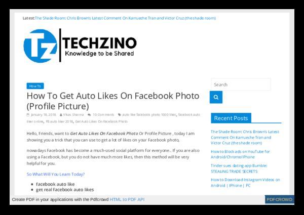 PDF) Facebook Auto Likes pdf | TECHZINO LEARN EVERYTHING