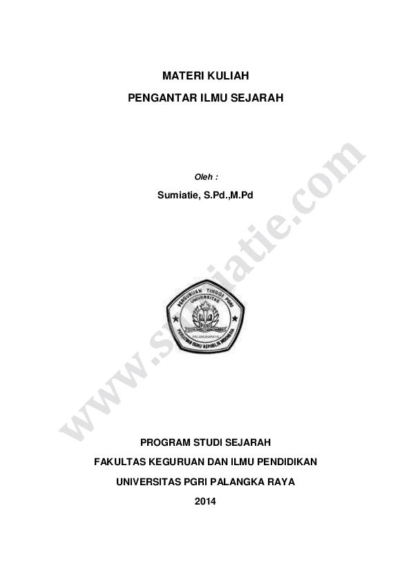 Ebook Pengantar Ilmu Sejarah Kuntowijoyo