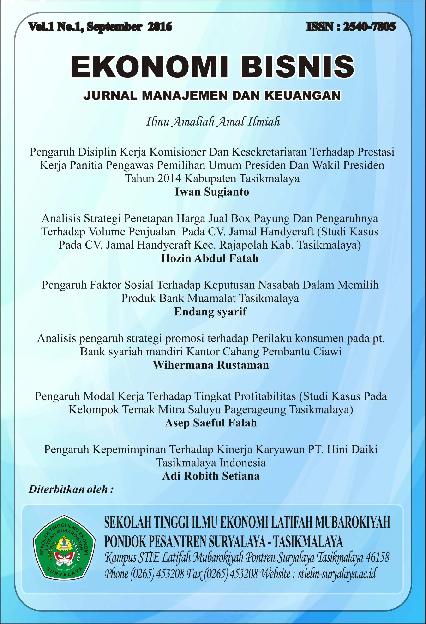 (PDF) Jurnal Ekonomi Bisnis Vol 1 No 1 | Adi Robith ...