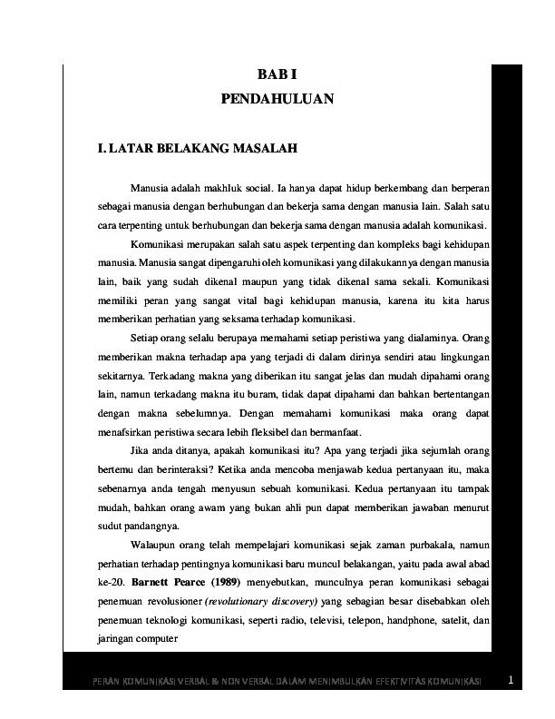 Doc Komunikasi Verbal Non Verbal Psikologi Komunikasi Ginta Febryana Ramadhani Academia Edu