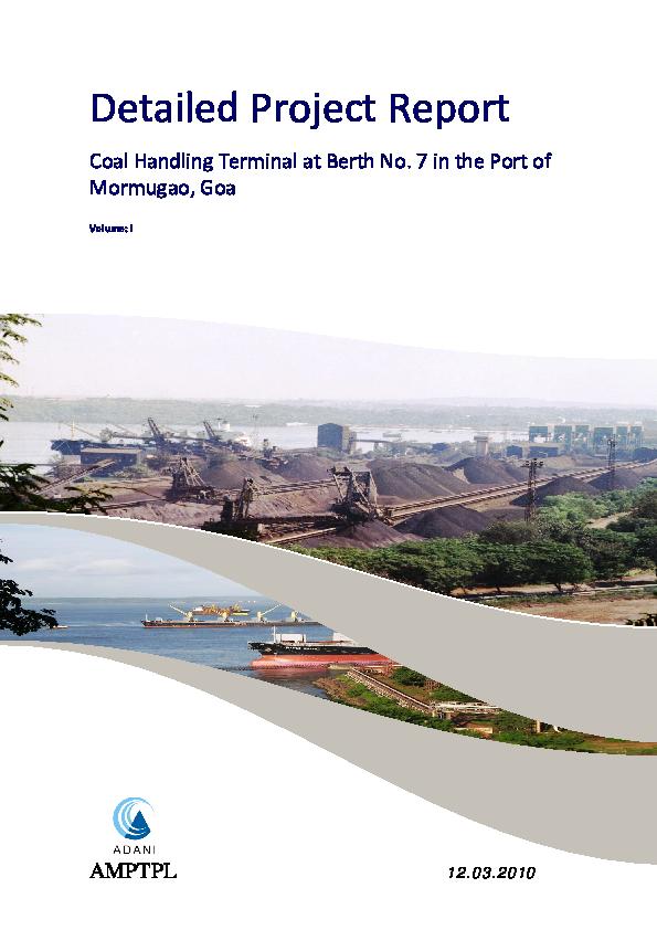 PDF) Detailed Project Report Coal Handling Terminal | Prabir