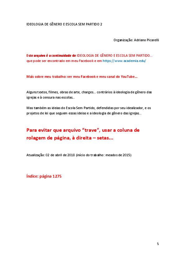 f07089356 PDF) IDEOLOGIA DE GÊNERO E ESCOLA SEM PARTIDO 2