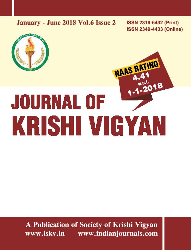 PDF) Journal of krishi vigyan vol 6 issue 2 pdf   Manoj