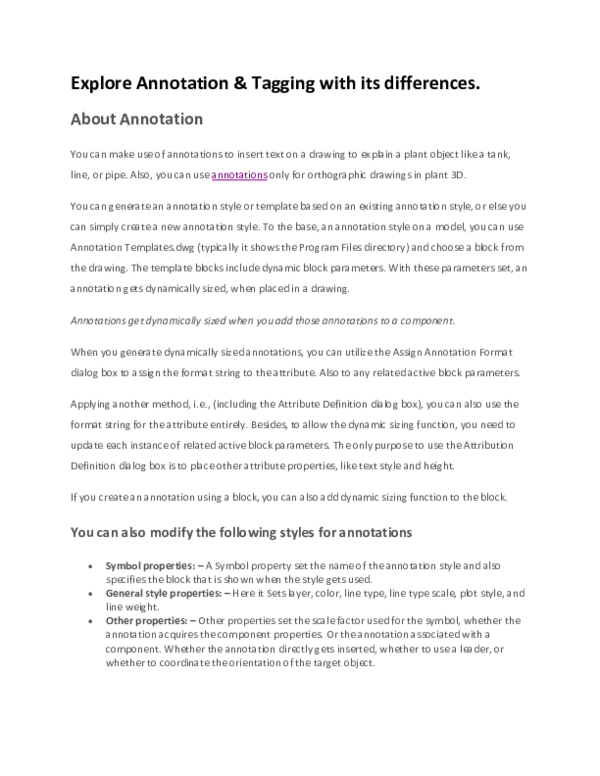 DOC) Explore Annotation & Tagging with its differences