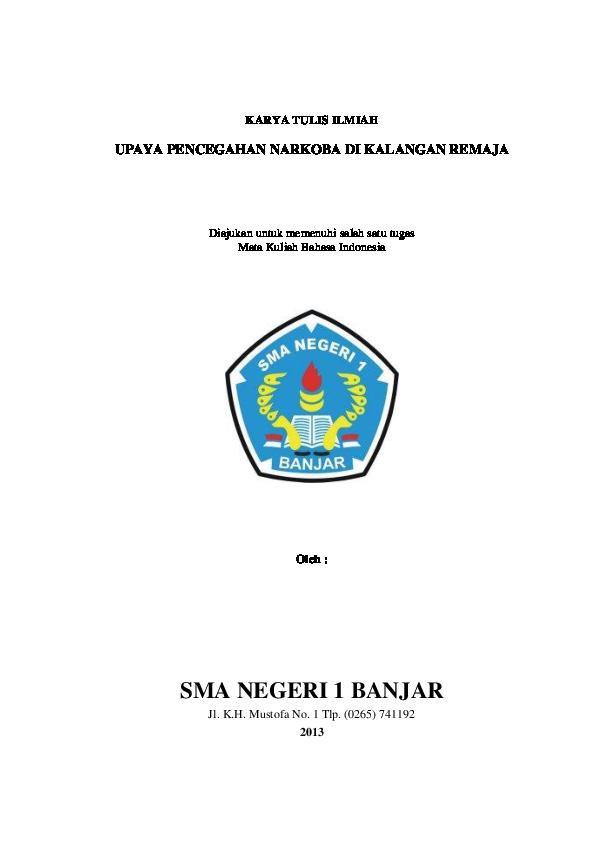 Doc Karya Tulis Ilmiah Narkoba Fadhila Sukmawati Academia Edu
