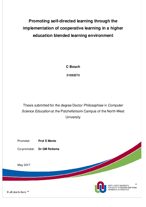 PDF) Promoting self-directed learning through the