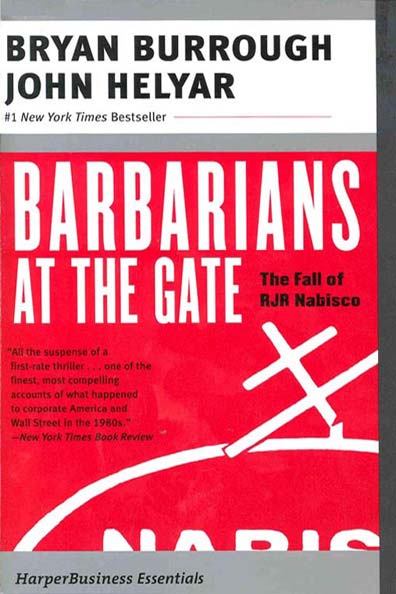 PDF) Burrough B , Helyar J  Barbarians at the gate