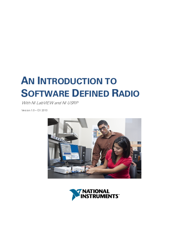 PDF) AN INTRODUCTION TO SOFTWARE DEFINED RADIO With NI