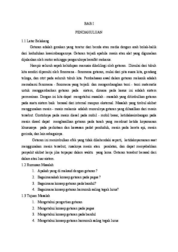 Doc Makalah Getaran Doc Riska Fatimah Ray Academia Edu