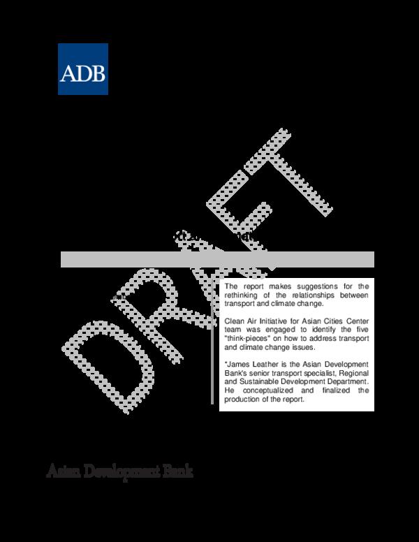 PDF) Rethinking Transport and Climate Change | Sudhir Gota