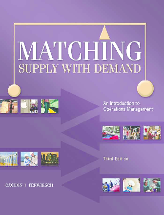 PDF) Matching Supply with Demand An Introduction to Operations