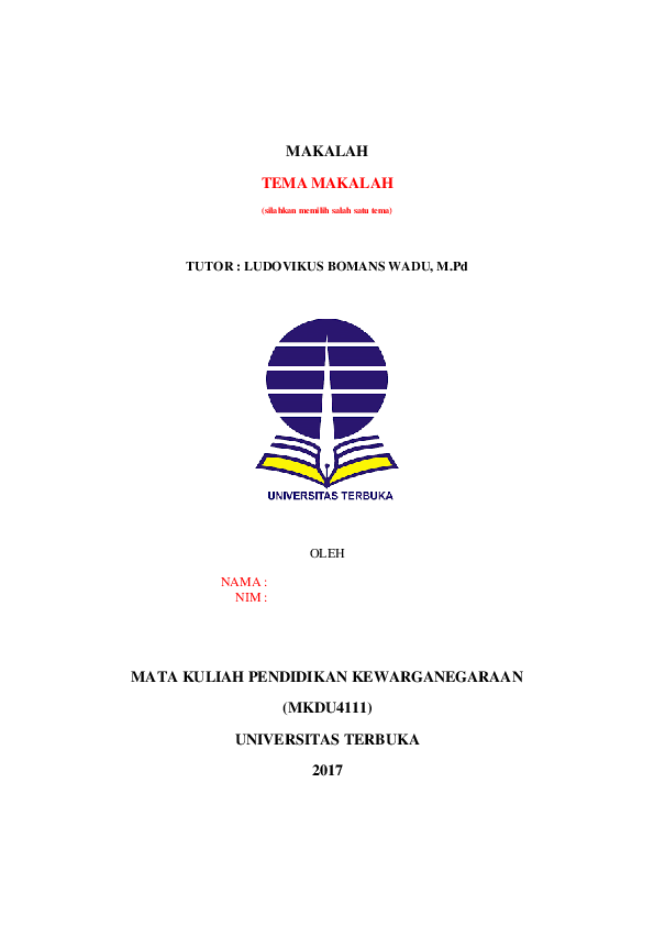Doc Template Makalah Tugas I Yuli Anto Academia Edu