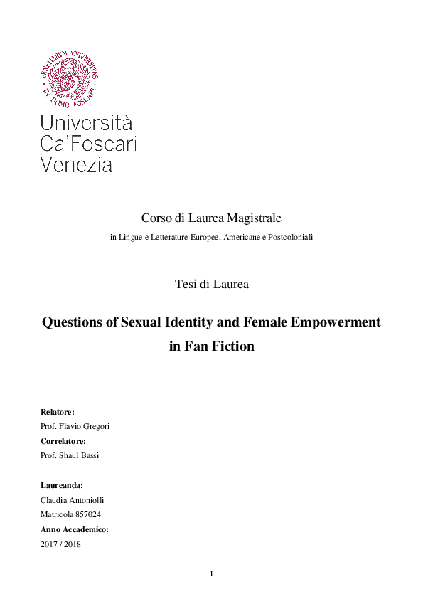 PDF) Questions of Sexual Identity and Female Empowerment in Fan
