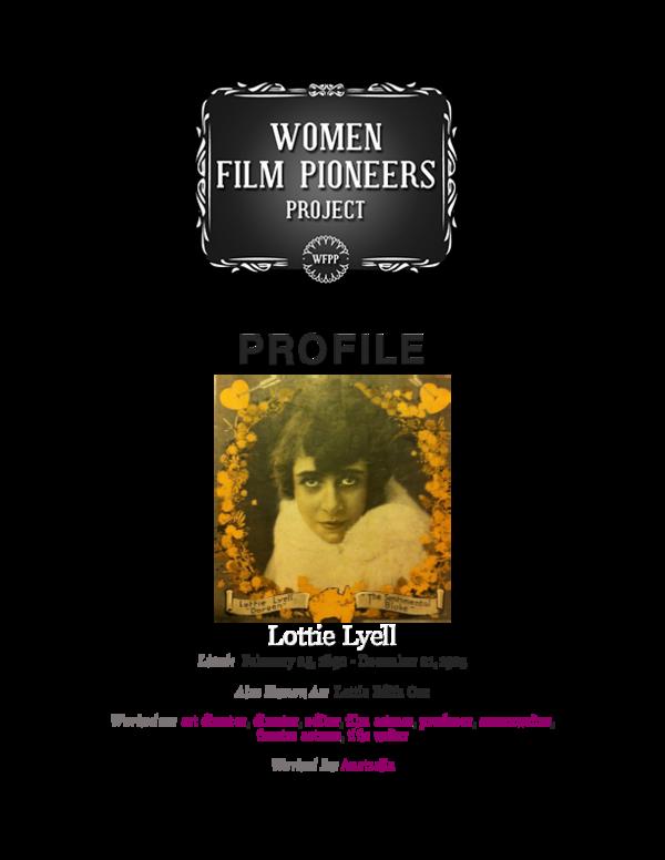 PDF) Women Film Pioneers Project: Lottie Lyell profile