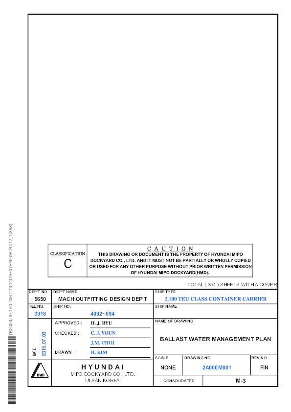 PDF) M-3 BALLAST WATER MANAGEMENT PLAN.PDF | ionut voinea ...