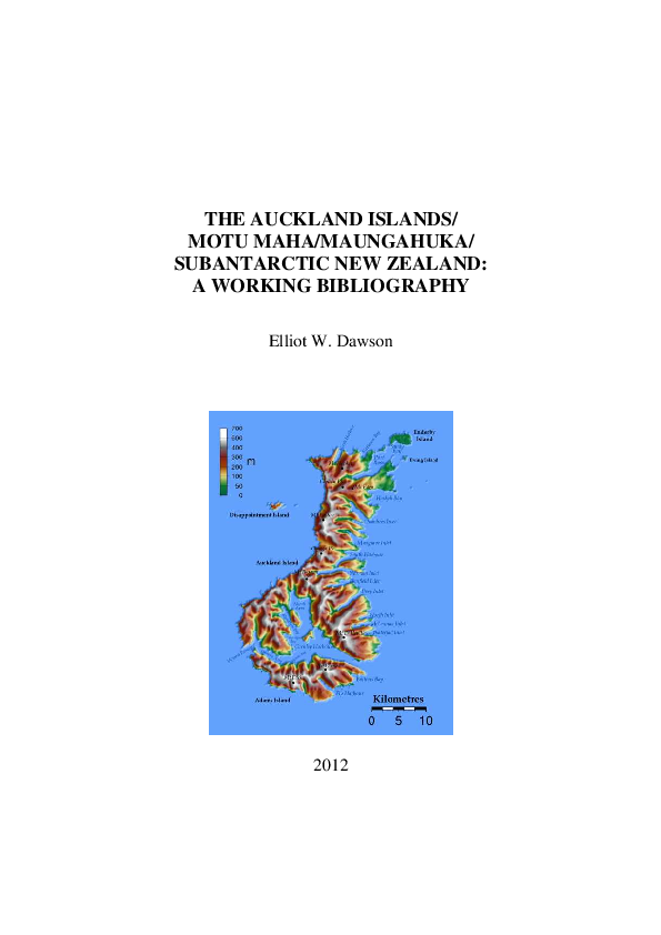 512988c9ae1128 PDF) THE AUCKLAND ISLANDS  MOTU MAHA MAUNGAHUKA  SUBANTARCTIC NEW ...