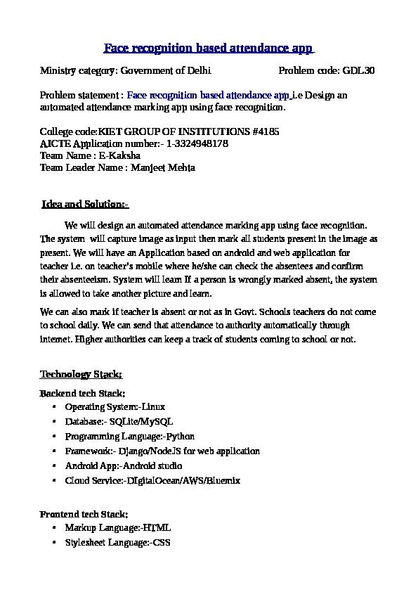 Sih attendance | MANJEET SINGH MEHTA - Academia edu