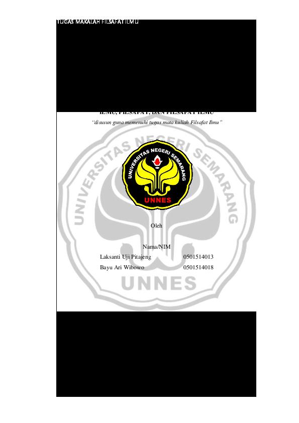 Pdf Ilmu Filsafat Dan Filsafat Ilmu Bayu Ariwibowo Academia Edu