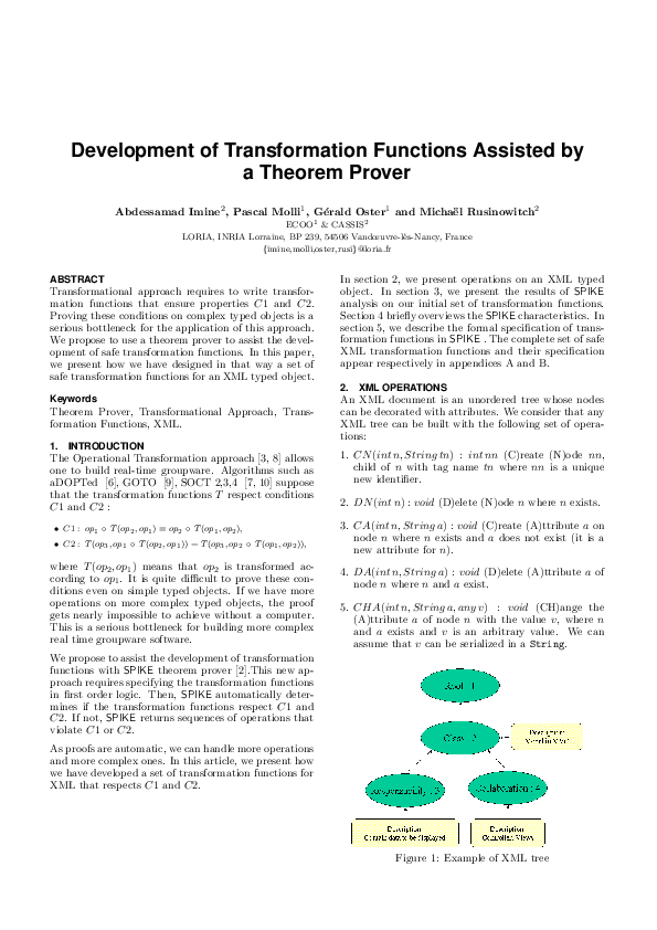 PDF) Development of Transformation Functions Assisted by