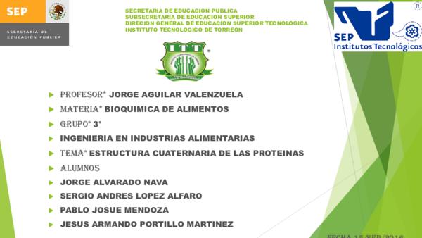 Ppt Estructura Cuaternaria De Las Proteinas Sergio Lopez