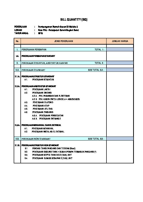 Pdf Boq Rusun Maluku 3 Pdf Nadia Farisa Academia Edu