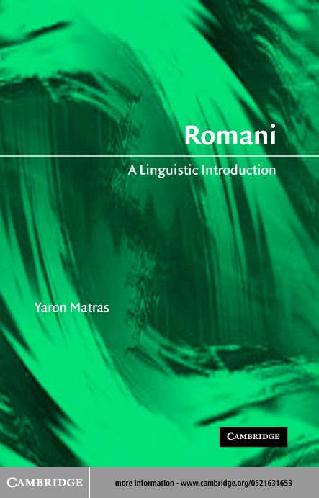 PDF) Romani A Linguistic Introduction pdf | Mikhti Hanifi - Academia edu