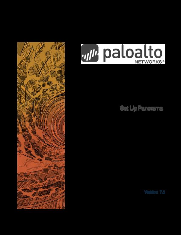 PDF) Panorama™ Administrator's Guide Set Up Panorama   John