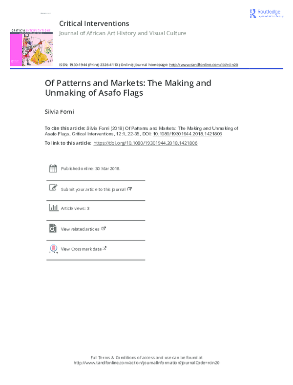 PDF) Of Patterns and Markets: The Making and Unmaking of