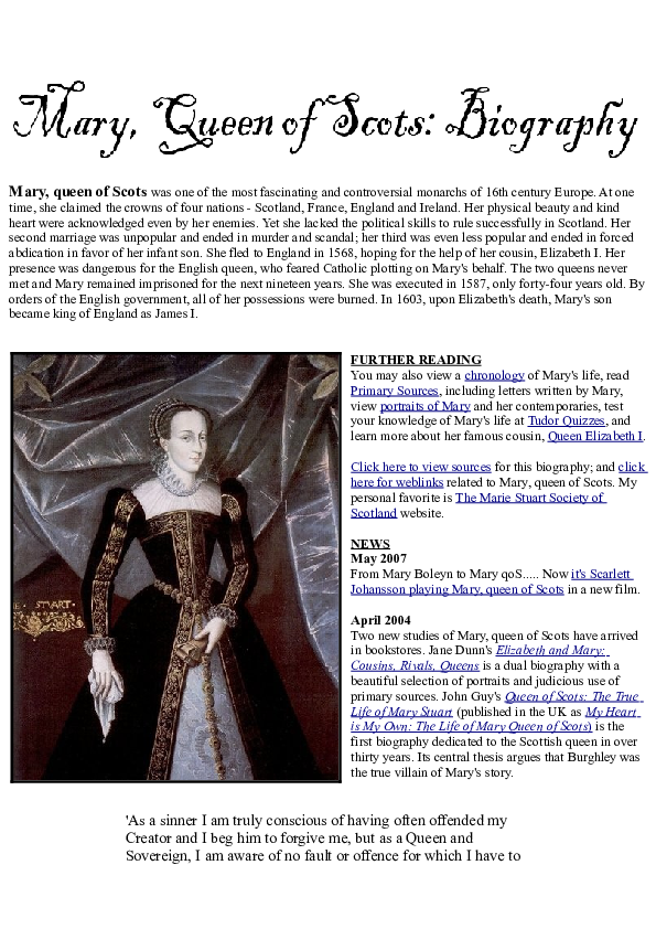 mary queen of scots motto