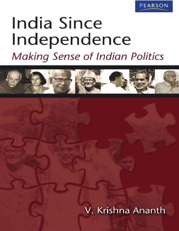 PDF) India Since Independence_ Making Sense of Indian Politics pdf