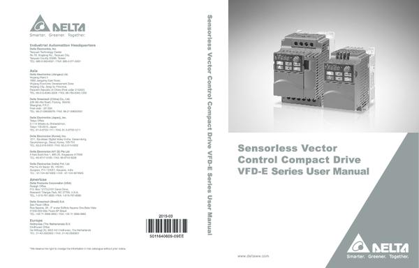 Delta VFD015E43P  50//60HZ AC VFD 380-480V Inverter 3PH VFD-E