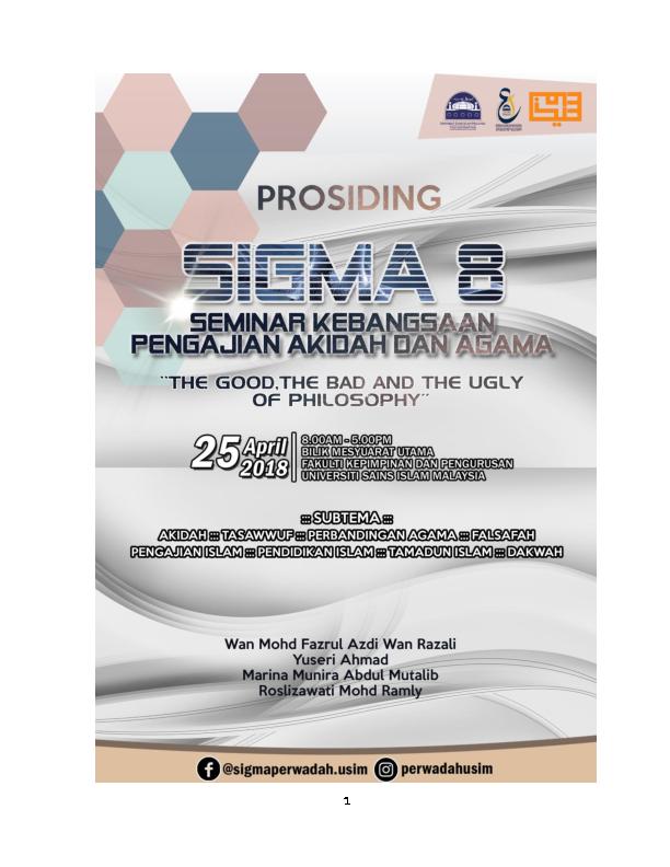PDF) Prosiding Seminar Kebangsaan Pengajian Akidah Dan Agama