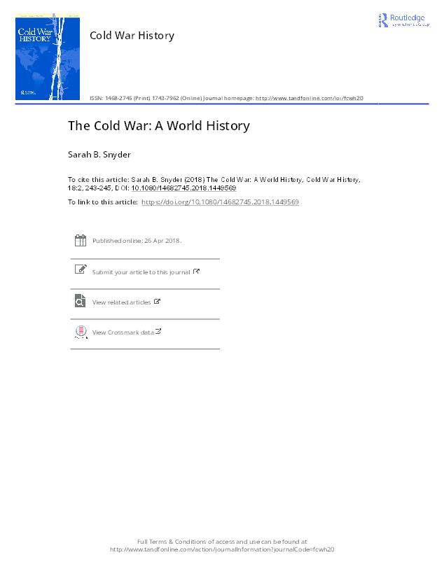 the global cold war westad odd arne