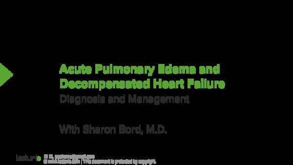PDF) Acute Pulmonary Edema and Decompensated Heart Failure