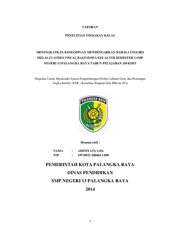 Contoh Proposal Ptk Bahasa Indonesia Kurikulum 2013 Ilmusosial Id