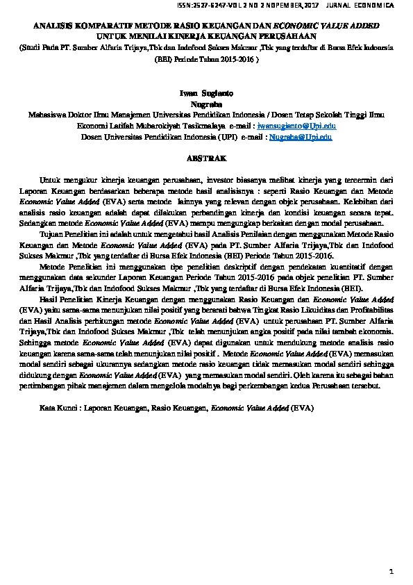 Pdf Jurnal Manajemen Keuangan Iwan Sugianto Academia Edu