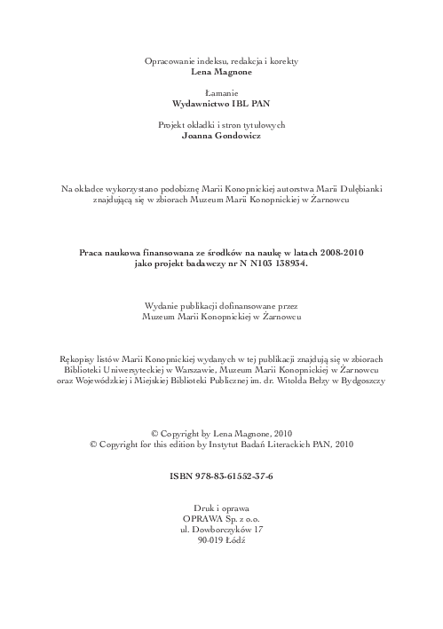 Pdf Maria Konopnicka Listy Do Synów I Córek Wstęp I