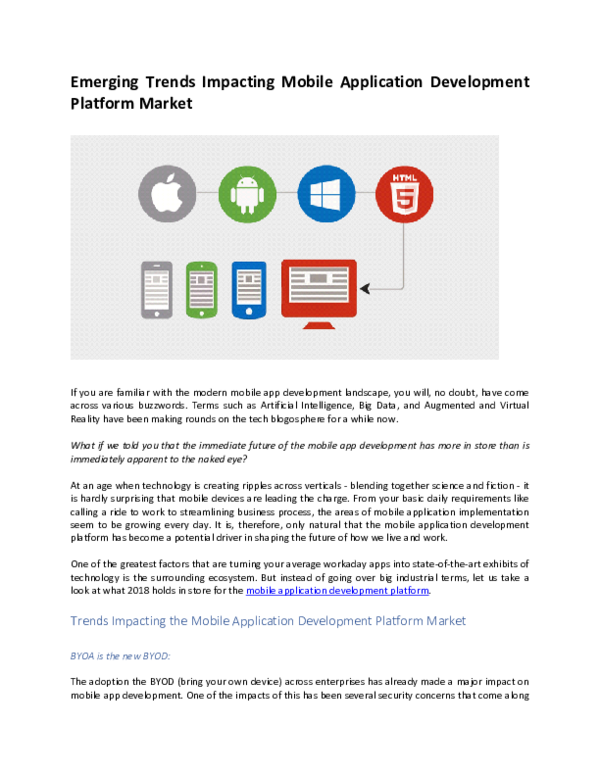 PDF) Emerging Trends Impacting Mobile Application