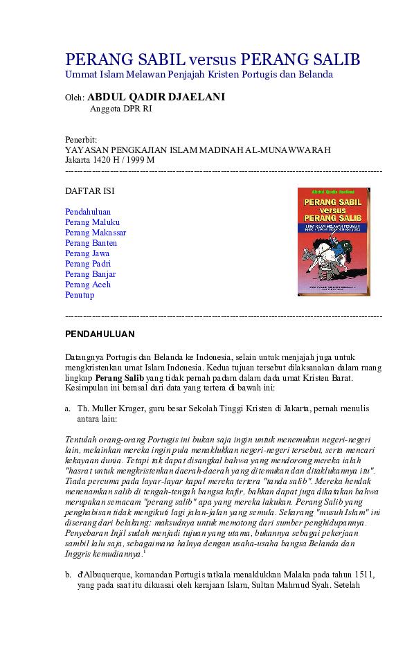 PERANG SABIL versus PERANG SALIB  85b280c535